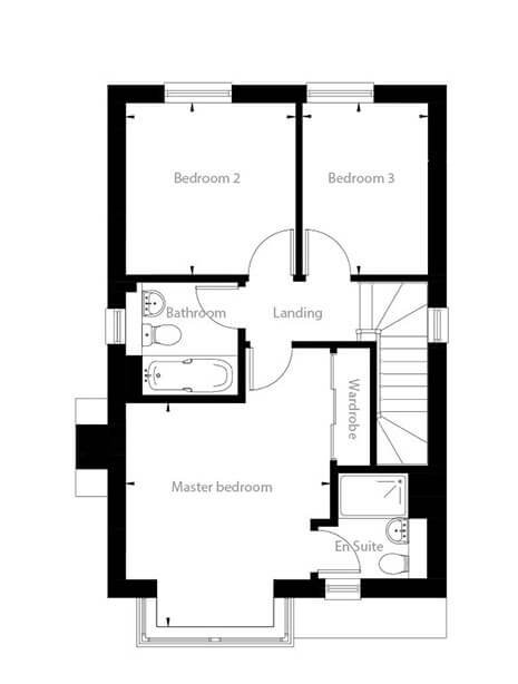 Beaufort Floor Plan First Floor