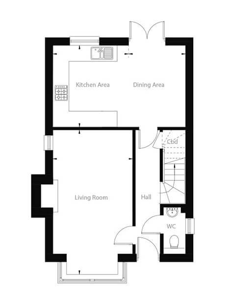 Beaufort Floor Plan Ground Floor