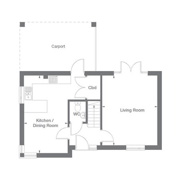 Buckingham Floor Plan Ground Floor