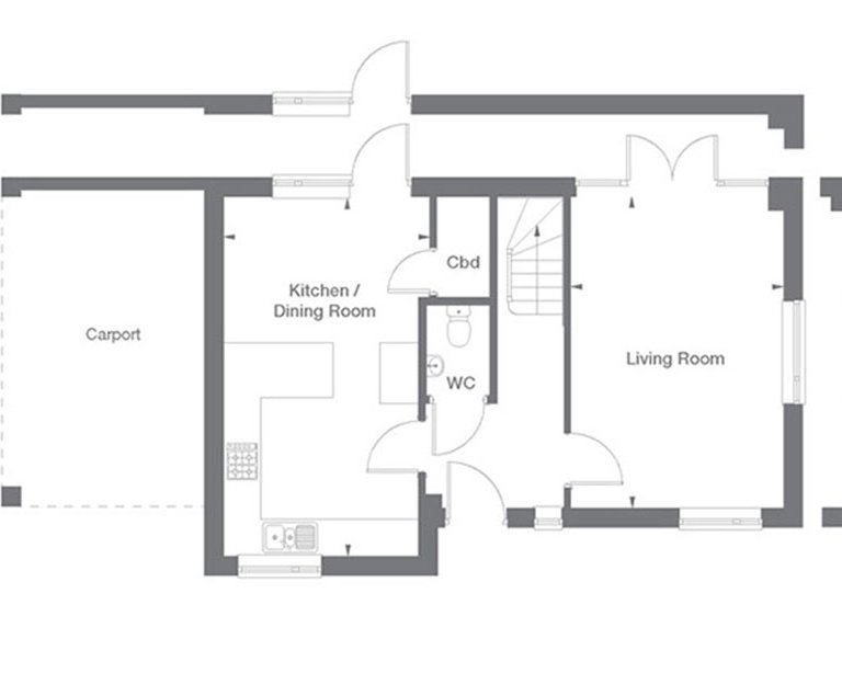 Clarence Floor Plan Ground Floor