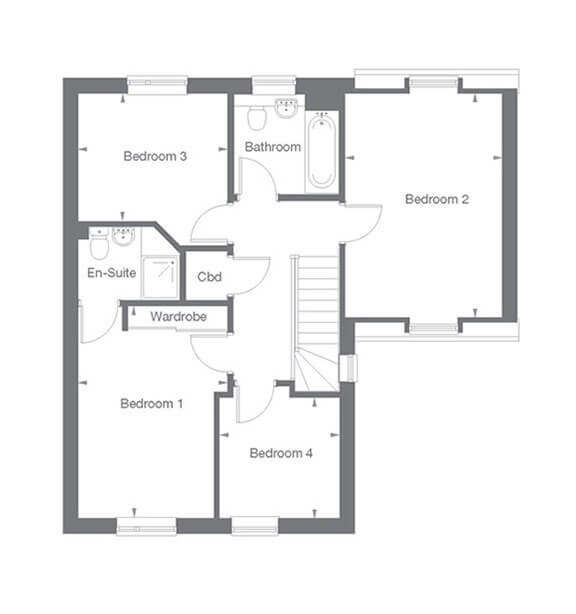 Darlington Floor Plan First Floor
