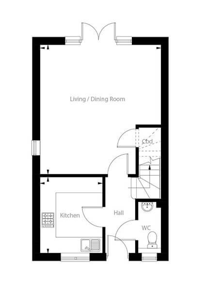 Hudson Floor Plan Ground Floor