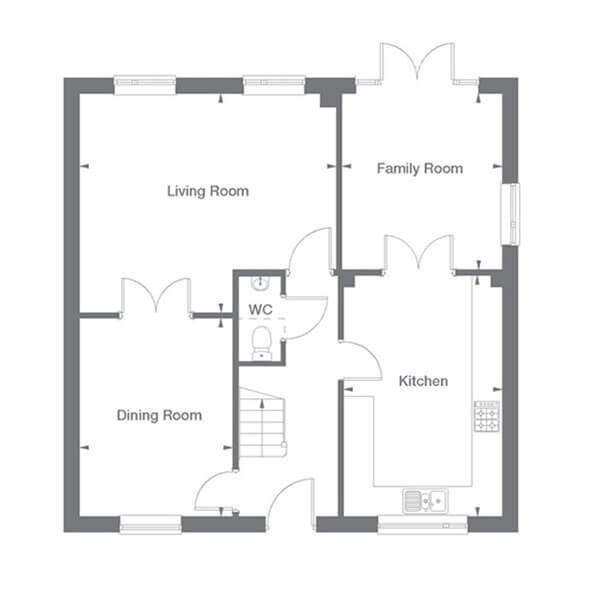 Kensington Floor Plan Ground Floor