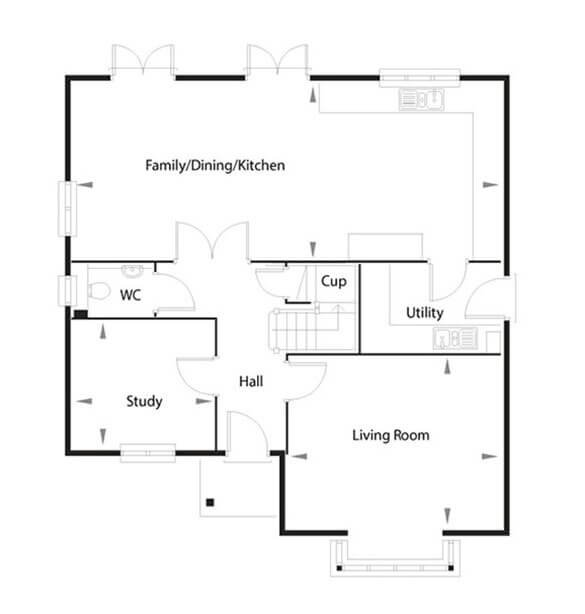 Leeds Floor Plan Ground Floor