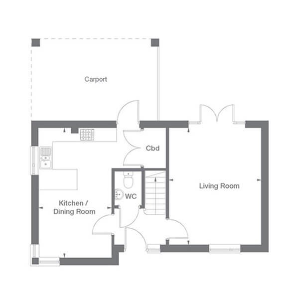 Osbourne Floor Plan Ground Floor