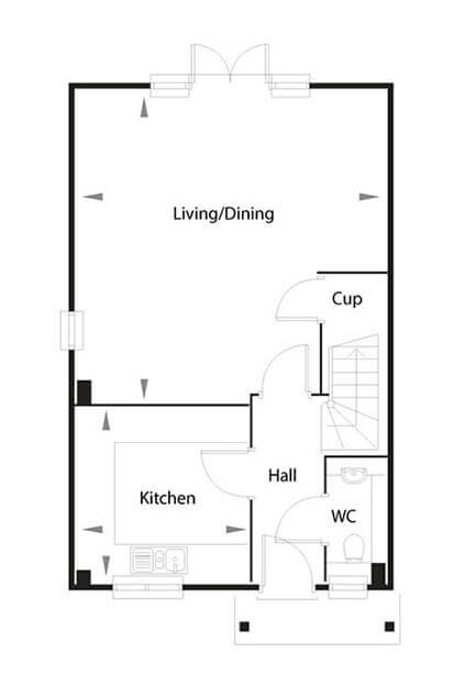 Rochester Floor Plan Ground Floor