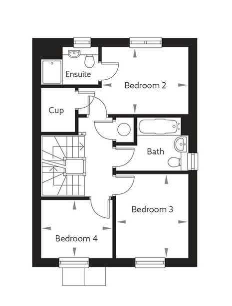 Scotney (Type 2) Floor Plan First Floor