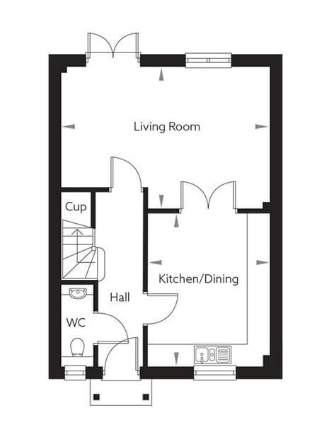 Scotney (Type 2) Floor Plan Ground Floor