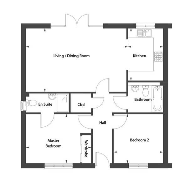 Spitfire Floor Plan Ground Floor