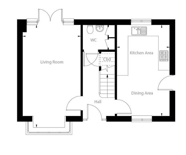 Whitworth Floor Plan Ground Floor