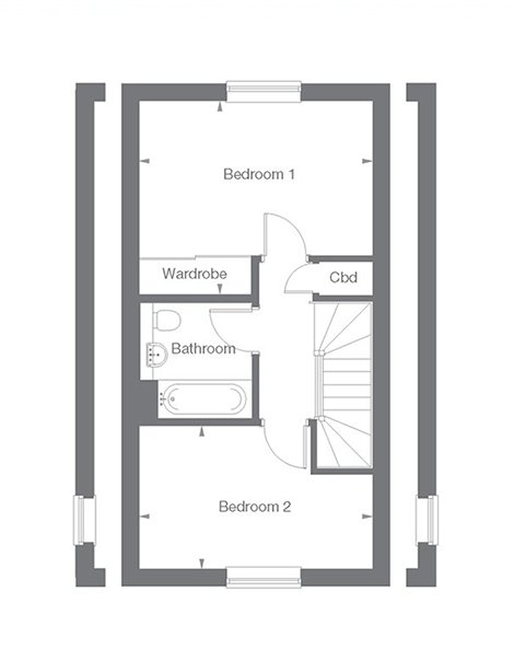 Cambridge Floor Plan First Floor