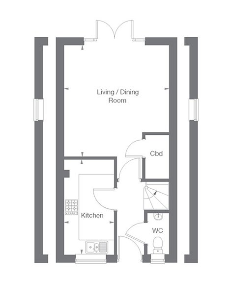 Cambridge Floor Plan Ground Floor