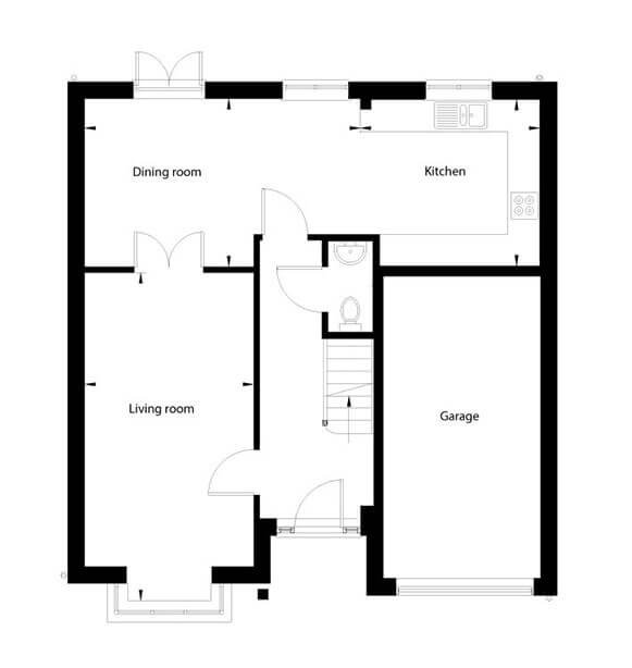 Honeysuckle Floor Plan Ground Floor